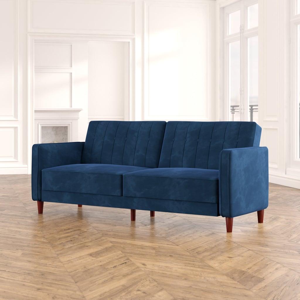 Mervury Row Imani Velvet Convertible Sofa