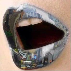 Reflective Lip Art Instagram Trend