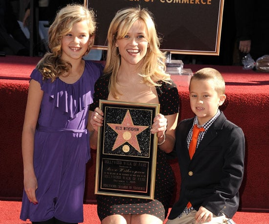 Slide Picture of Reese Witherspoon Getting Star on Hollywood Walk of Fame