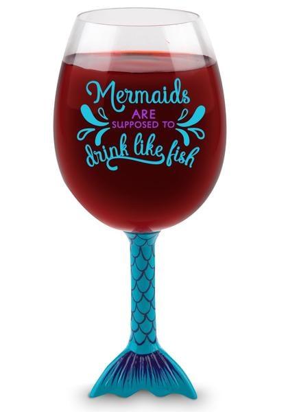 Mermaid Tail XL Wine Glass