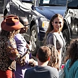 Jennifer Lopez walked to the studio with her fellow judges Steven Tyler and Randy Jackson.