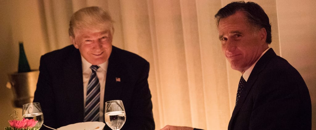 Mitt Romney and Donald Trump Dinner Photo