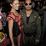 Lauren Conrad and Rembrandt Flores were in costume on Halloween.