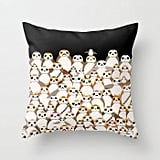 Porg Printed Pillow