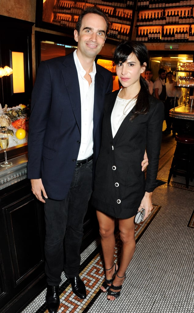 Newlyweds Fritz von Westenholz and Caroline Sieber made a handsome couple at the British Vogue London Fashion Week event.