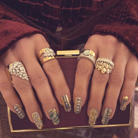 Jennifer Lopez Wears $100 Bills on Her Manicure