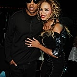 Jay Z and Beyoncé stayed close during the MTV Europe Music Awards in 2009.