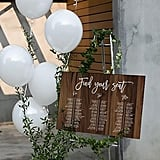 Editable Wood Wedding Table Seating Chart