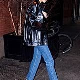Kendall Jenner Fuzzy Heels Ben Simmons Feb. 2019