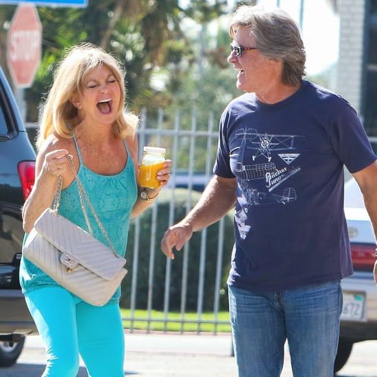 Kurt Russell and Goldie Hawn Laughing in LA October 2016