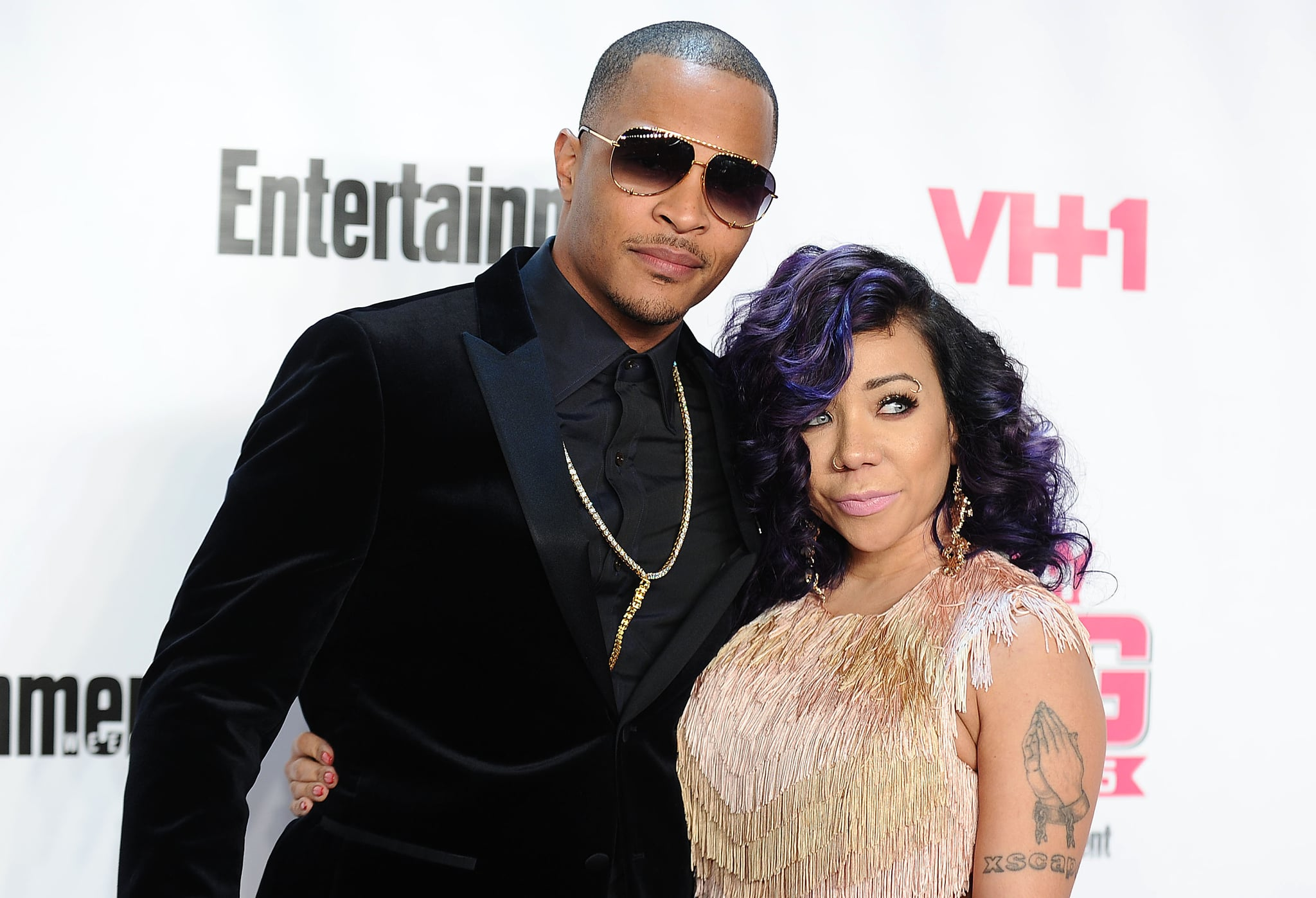 WEST HOLLYWOOD, CA - NOVEMBER 15:  Rapper T.I. and Tameka 'Tiny' Cottle-Harris attend the VH1 Big In 2015 with Entertainment Weekly Awards at Pacific Design Center on November 15, 2015 in West Hollywood, California.  (Photo by Jason LaVeris/FilmMagic)
