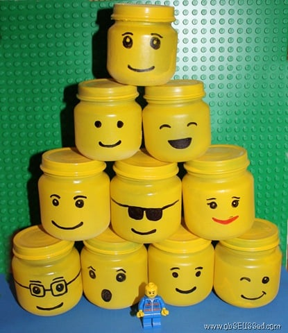 Lego Storage Jars