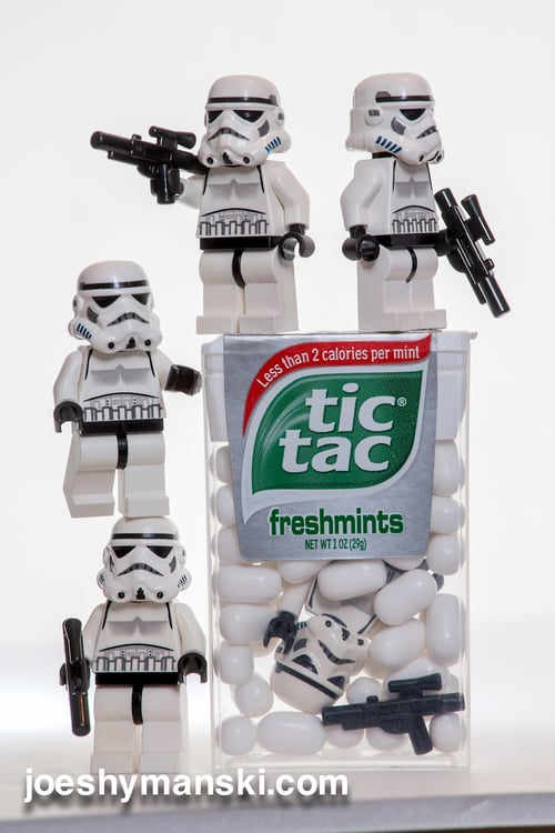 Guess stormtroopers prefer Tic Tacs over gum?