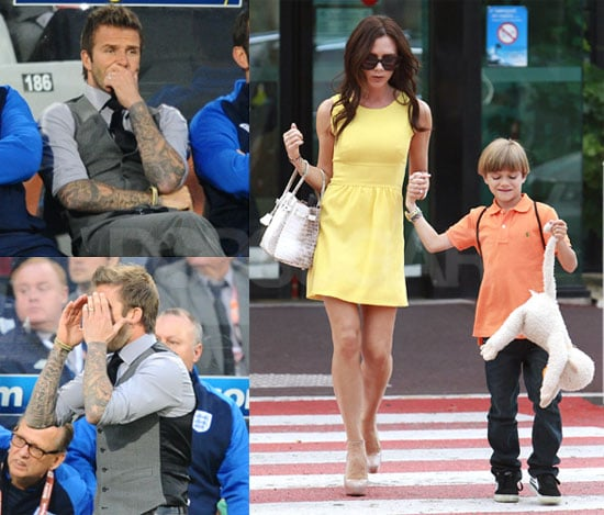 Victoria Beckham Travels in Europe With New Hair Extensions, as David Bechkam Watches the England Team at the 2010 World Cup