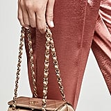 What Goes Around Comes Around Chanel Gold Satin Barrel Evening Bag