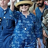 Hillary Clinton Wearing a Caftan in India 2018