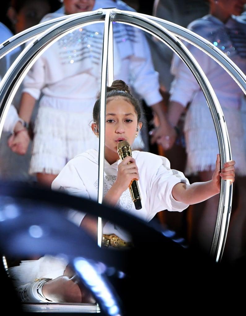 Jennifer Lopez's Daughter Emme Sings at the Super Bowl