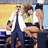 Pitbull and a Sexy Backup Dancer