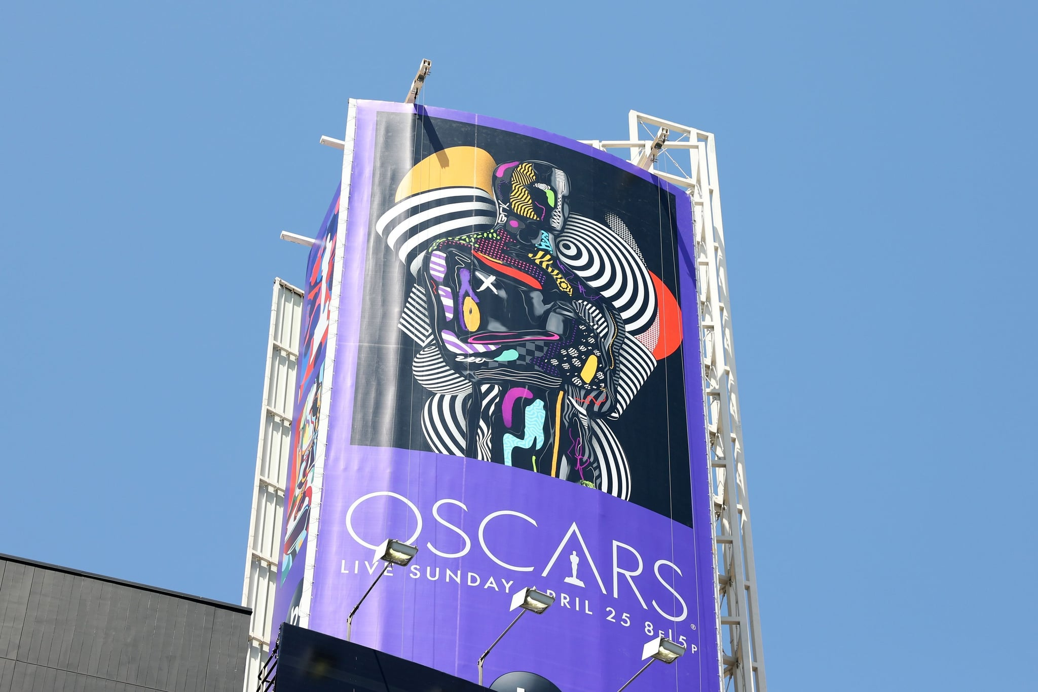 LOS ANGELES, CALIFORNIA - APRIL 19: Oscars signage is seen during preparations for the 93rd Annual Academy Awards on April 19, 2021 in Los Angeles, California. (Photo by Amy Sussman/Getty Images)