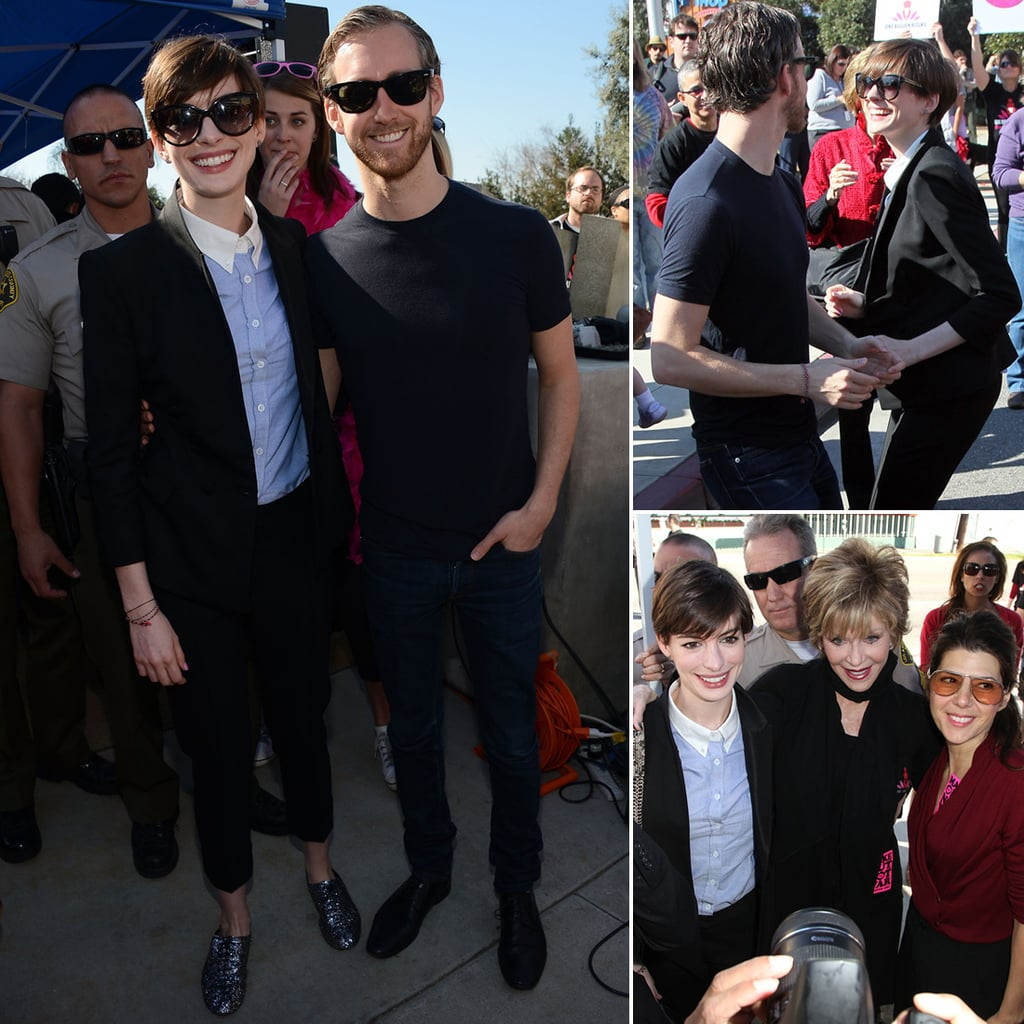 Anne Hathaway and Adam Shulman at One Billion Rising