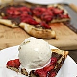 Grilled Dessert Pizza With Strawberries and Chocolate