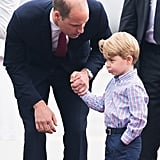Prince George at Warsaw Airport in July 2017