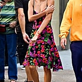 Hailey Baldwin Floral Dress With Justin Bieber August 2018