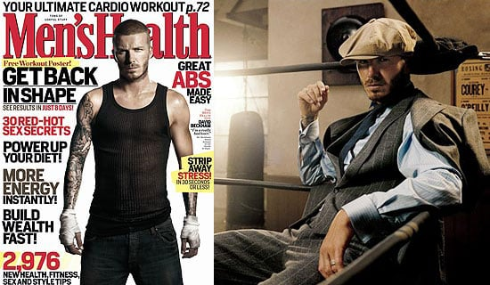 Photos of David Beckham in September 2008 Men's Health