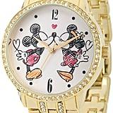 Disney Gold-Tone Cubic Zirconia Love Watch