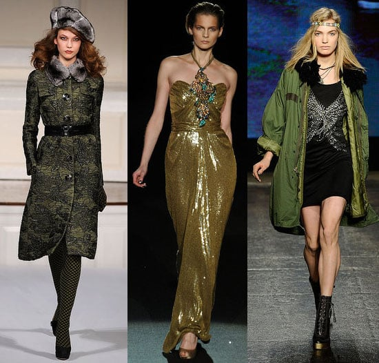 2010 Fall New York Fashion Week Trend: Green