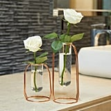 Metal Flower Vase Glasses