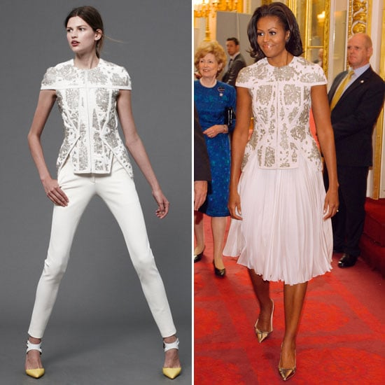 Michelle Obama at the Olympics in J. Mendel