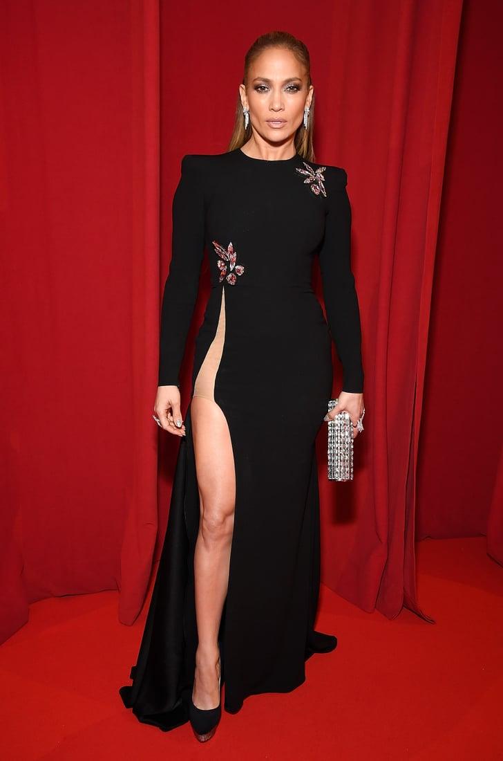 Jennifer Lopez Alex Perry Dress With Slit