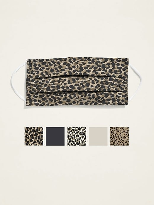 Old Navy Variety 5-Pack of Triple-Layer Cloth Face Masks For Adults — Leopard