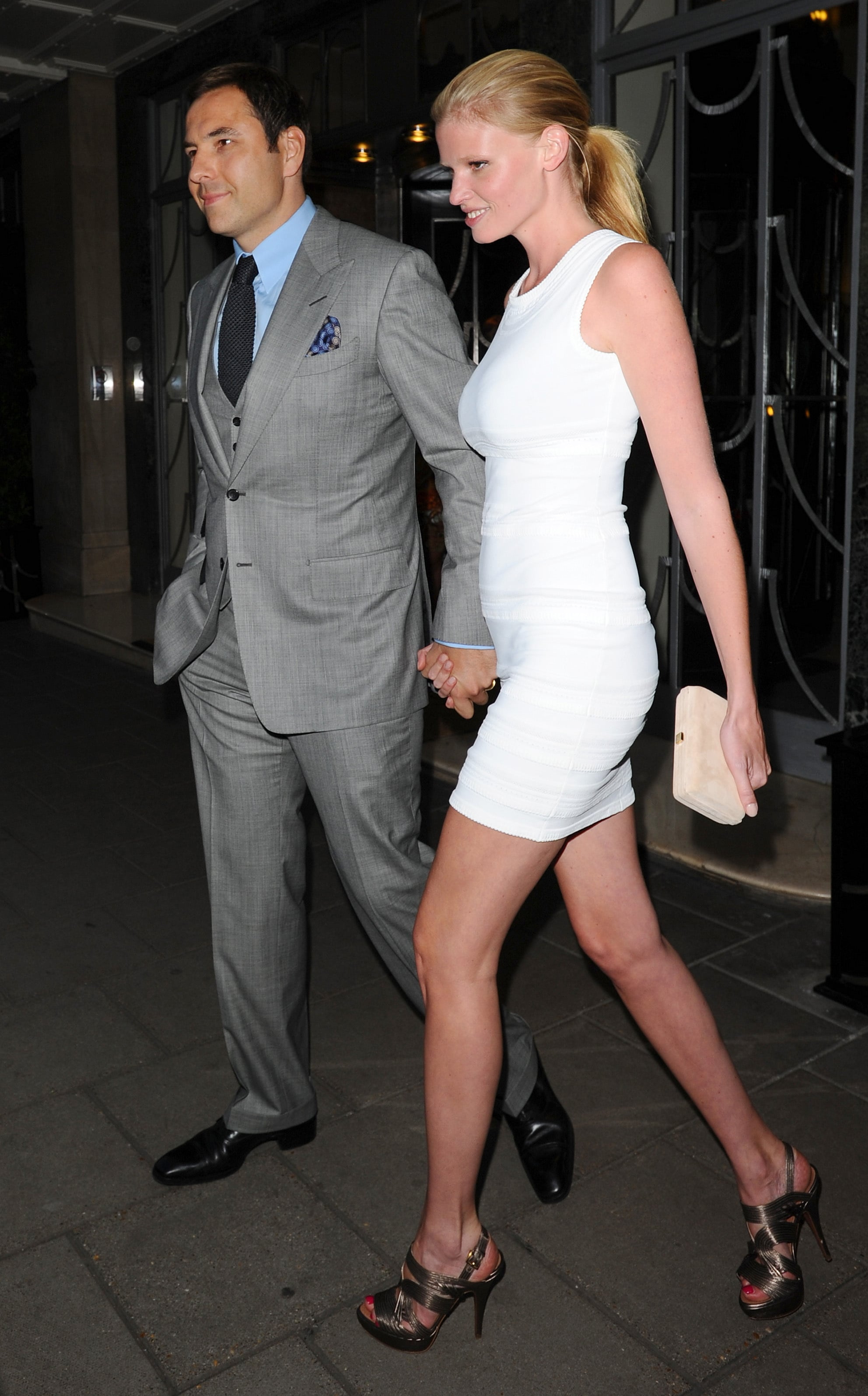pictures of david walliams and lara stone out in london