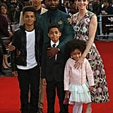 David Oyelowo and Family at Queen Of Katwe Screening 2016