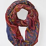 The bohemian style setter will get her printed fix with this painted paisley loop scarf from Anthropologie ($38). But don't let the fun stop there — add another dynamic print into the mix for an extra dose of Fall intrigue.