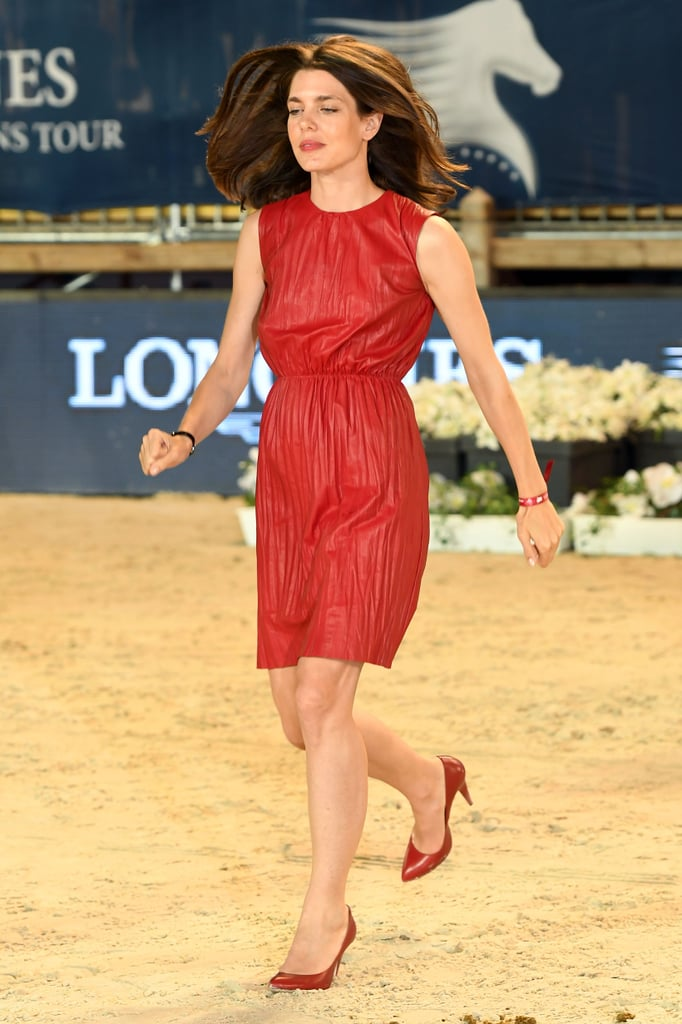 Charlotte Casiraghi Red Dress at Longines Tour 2016