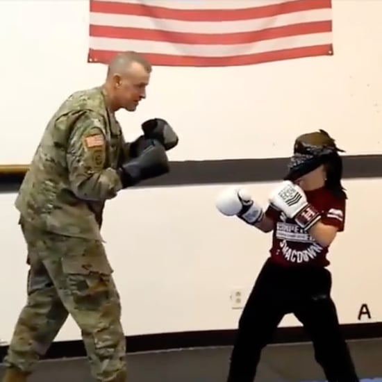 Military Dad Surprises Son While Boxing Blindfolded
