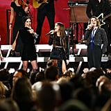 Dolly Parton, Amanda Shires, Maren Morris, Brandi Carlile, and Natalie Hemby at the 2019 CMA Awards