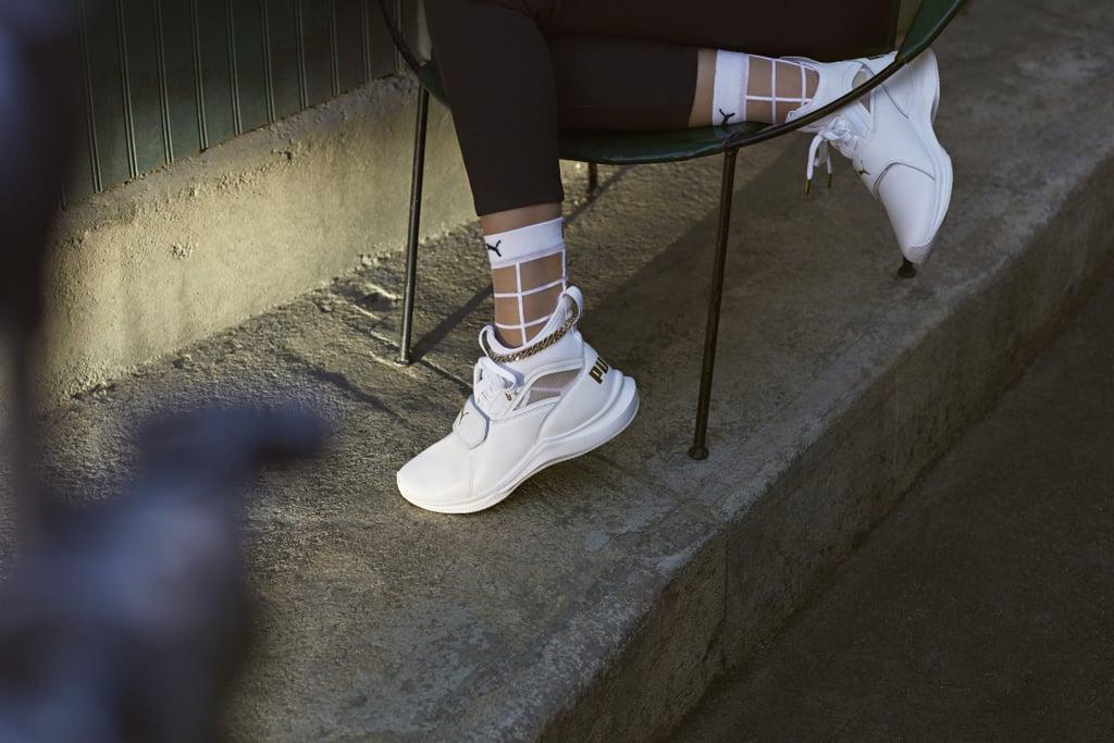 Selena Gomez s Phenom Lux Puma Sneaker and Socks  a4d4a914b