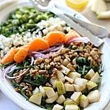 Arugula Spring Salad With Asparagus Pear and Mandarin Orange Salad Dressing