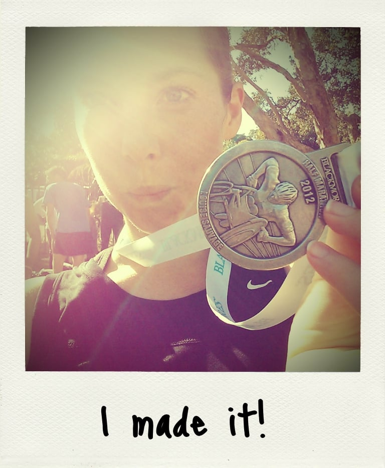 Endorphins + glorious weather + Sydney Harbour Bridge + finish line = post-race glow.