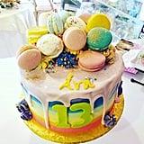 Rainbow Macaron Cake