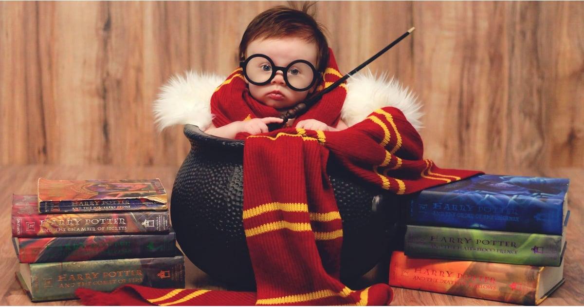 Newborn Harry Potter Baby Photo Shoot Popsugar Moms