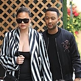 Chrissy Teigen's Black Dress May 2018