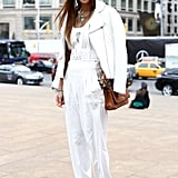 11. Winter whites are totally a thing; style them head to toe.