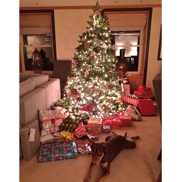 Gisele Bundchens Christmas Tree Looked Stuffed With Gifts For Her Kids Source Instagram User