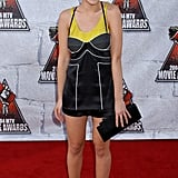 Scarlett wore a cute minidress and strappy black heels to the MTV Movie Awards in 2004.