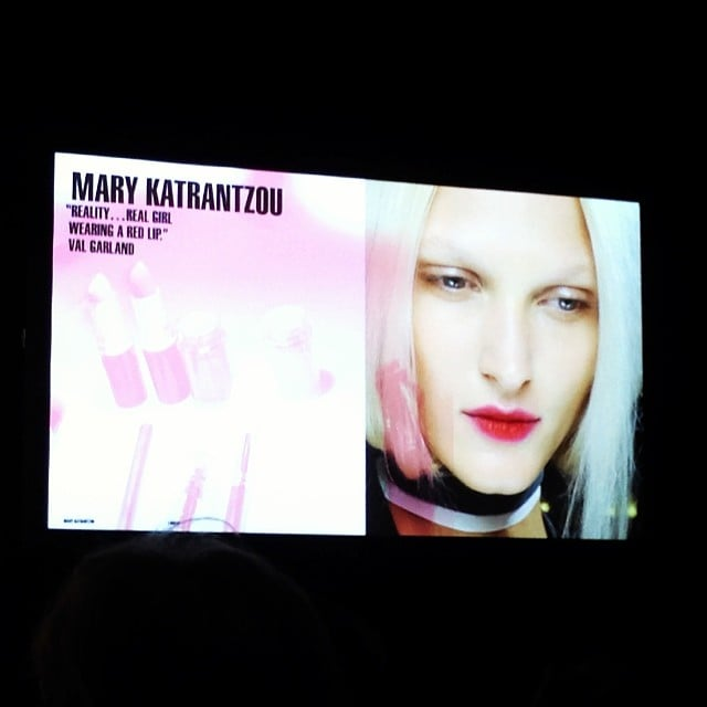 Health and beauty editor Alison took in the MAC Cosmetics Spring '14 trends in Sydney yesterday, with work by iconic makeup artist Val Garland taking centre stage. Hot on the beauty scene this year? Day-glow skin.